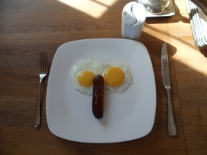 Head Porter, your breakfast is making me laugh.